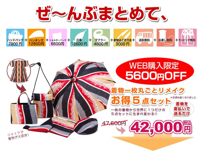 全部まとめて42,000円!WEB購入者限定5,600円OFF